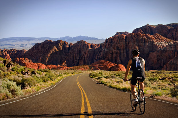 Guests bike on the road less traveled: scenic trails are enjoyed on Red Mountain's touring and mountain bikes.