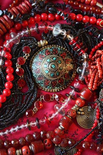 Handcrafted colorful traditional local jewelry by local artisans make gorgeous gifts.