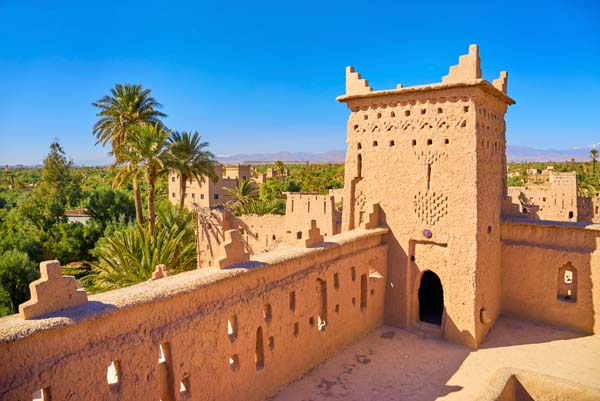Kasbah Amahidil in Skoura oasis, Ouarzazate district, Morocco