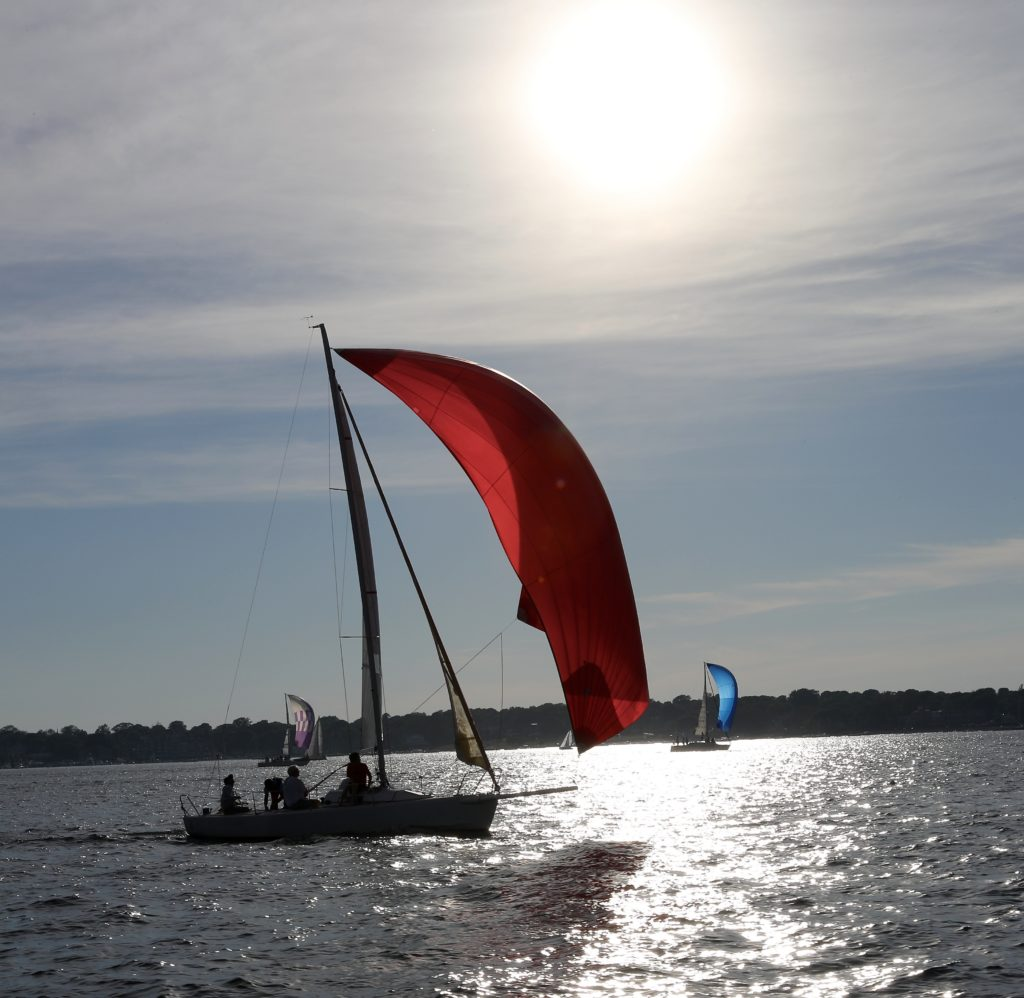 Sailing at Narragansett Bay, Newport Road Island
