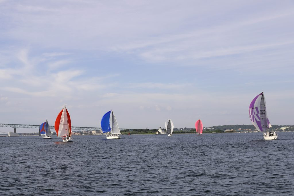 Yacht races Narragansett Bay, Newport Road Island