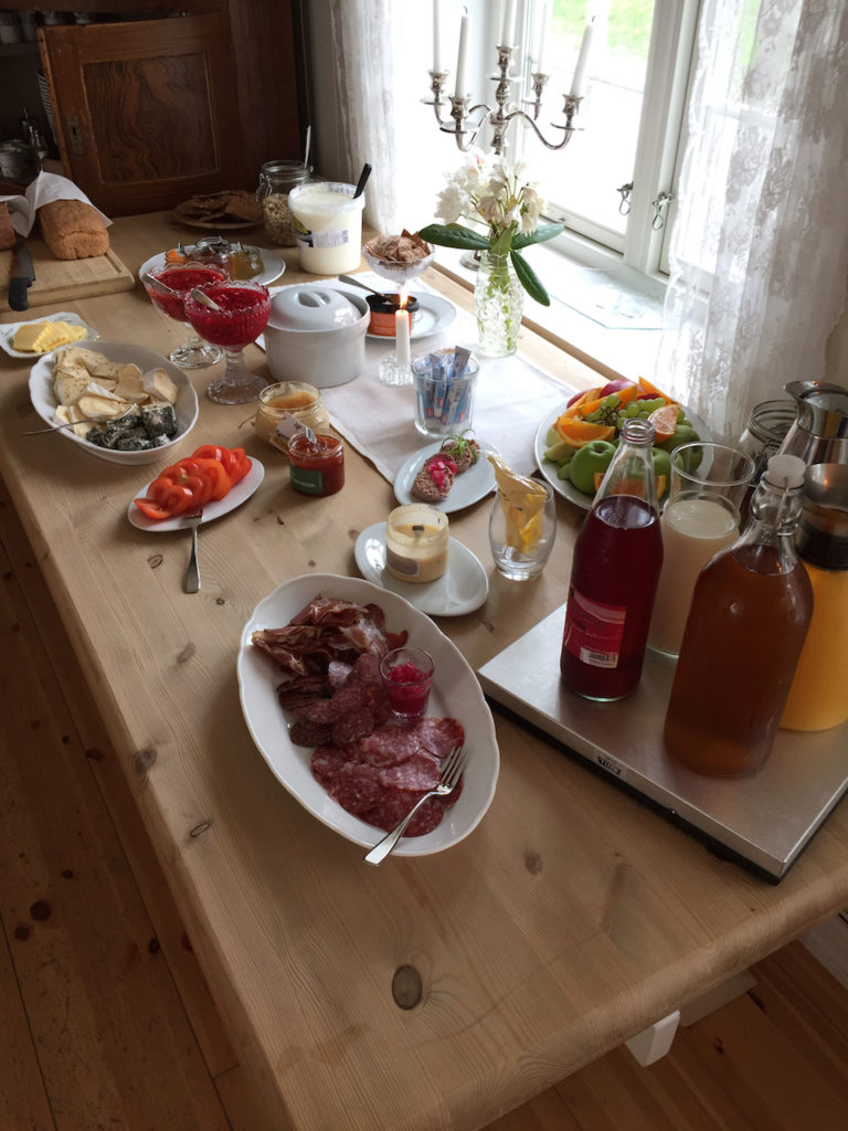 Breakfast is a delicious highlight at the modern, tranquil Jægtvolden Fjord Hotel. Do not miss the locally made sausages, cheeses, and freshly baked bread.
