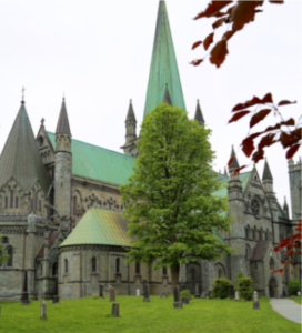 Built over the burial site of Saint Olav, the king of Norway in the 11th century, the Nidaros Cathedral is the northen- most medieval cathedral in the world.