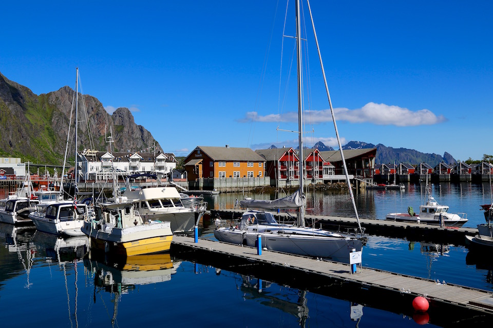 The charming Skrov- abrygga restaurant and pub in Lofoten, is situated on the small island Skrova.