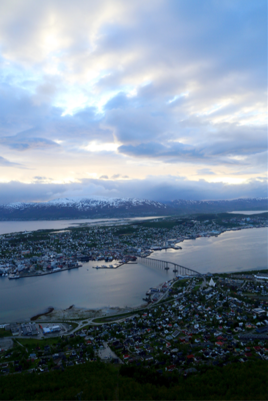 view from city of Tromsø