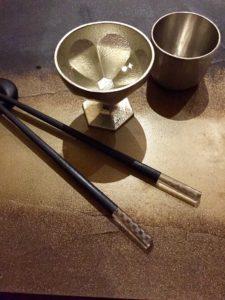 Pewter sake vessels