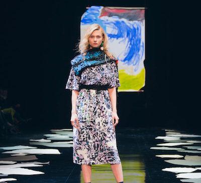 A look from Icelandic designer Anita Hirlekar's Reykjavik Fashion Festival runway