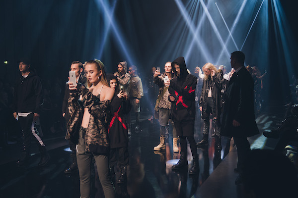 Ranks of models – including social media influencers such as Swopes and British celebrity Lady Victoria Hervey – Snapchatted and Instagrammed live as they walked during the Inklaw show.
