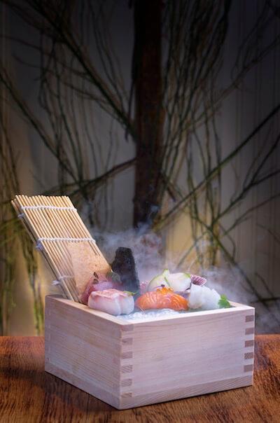 A sushi box at Fiskmarkaðurinn (photo credit Björn Árnason)